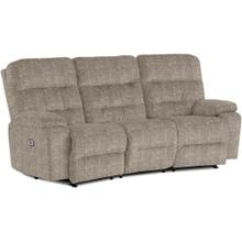 RYSON Power Tilt Headrest Conversation Space Saver Sofa in Mocha Fabric