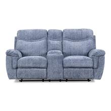 Sheffield Blue Reclining Console Loveseat