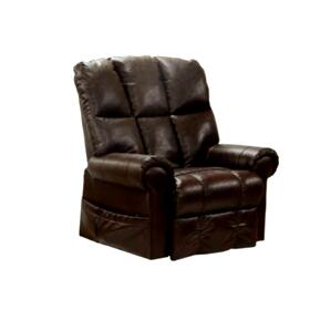 Stallworth Pow'r Lift Full Lay-Out Recliner in Dark Chocolate