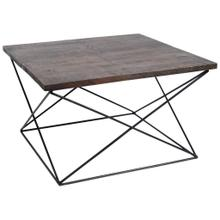 See Details - Square Mahogany Wood Coffee Table
