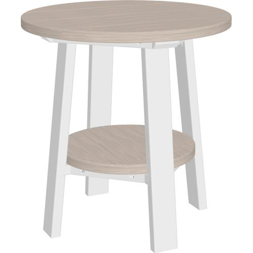 Deluxe End Table Premium Birch and White