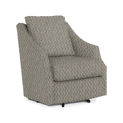Best Home Furnishings - Flutter Swivel Barrel Chair - Stone