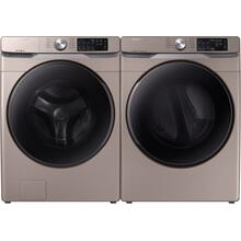 SAMSUNG Washer & Dryer Set with Front Load Washer and Electric Dryer in Champagne