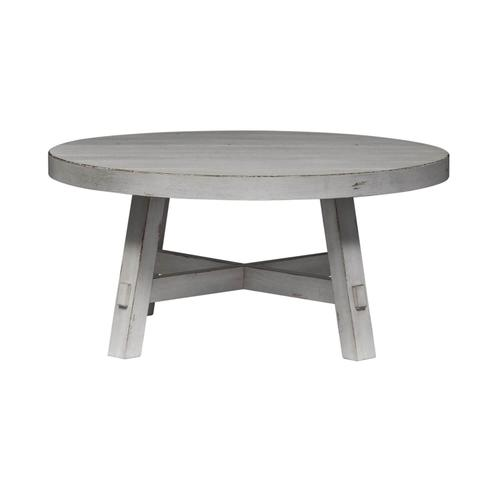 Modern Farmhouse Splay Leg Round Cocktail Table