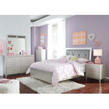 Olivet - Full Panel Bed, Dresser, Mirror, 1 x Nightstand