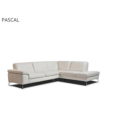 Pascal 2 Piece Italian Leather Sectional by Nicoletti Calia