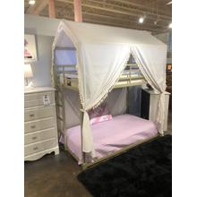Twin-Twin Canopy LED Bunk Bed
