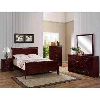 Louis Phillipe Queen 6PC. Bedroom Set - Cherry