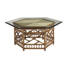 View Product - Lexington's Tommy Bahama Key Largo Cocktail Table w/ Glass Top