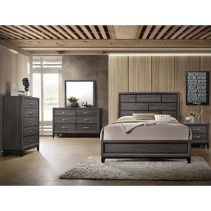 Akerson Kg Bed, Dresser, Mirror, Chest and Nightstand