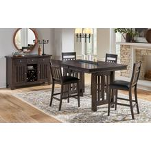Bremerton Gray Pub Table with 4 Stools