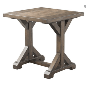 Finn Trestle Base End Table in Dark Walnut Finish       (TFFN-1---TET,75212)
