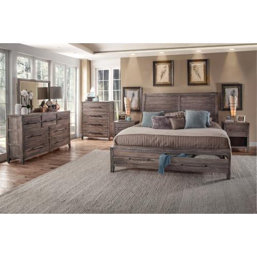 Queen Storage Bed, Dresser, Mirror, Chest & Nightstand