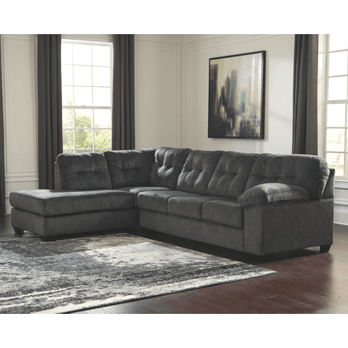 Accrington - Granite - 2-Piece Sectional with Left Facing Chaise and Queen Sleeper