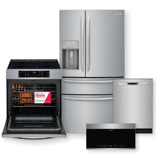 FRIGIDAIRE GALLERY 21.8 Cu. Ft. Counter-Depth French Door Refrigerator & 30-Inch Induction Range with Air Fry Package