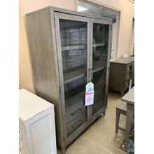 See Details - Gray Wash Display Cabinet