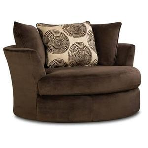 Groovy Chocolate Swivel Accent Chair