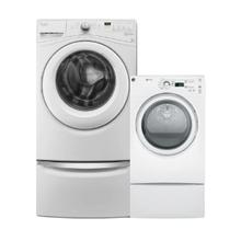 WHIRLPOOL Front Load 4.2 cu.ft Compact Washer & GE 7.5 cu. ft. Electric Dryer
