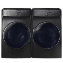 See Details - SAMSUNG 5.5 cu. ft. Smart Washer w/ FlexWash & 7.5 cu. ft. Smart Electric Dryer w/ FlexDry- Open Box