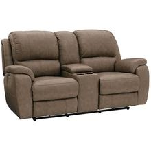 Godfrey Motion Loveseat w/ Power & Console in Mushroom