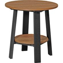 Deluxe End Table Premium Antique Mahogany and Black