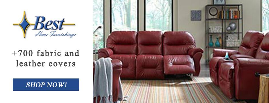 Shop Best Home Furnishings leather sofas and more at Godnicks Furniture store!