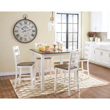 See Details - 5 Piece Woodanville Counter Height Dining Set