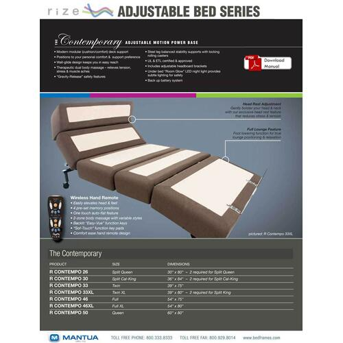Contempo Adjustable Bed