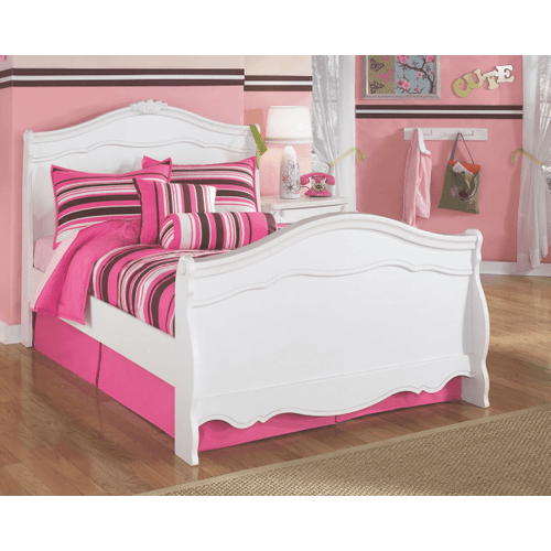 Exquisite- White- Full Sleigh Bed