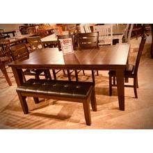 Bardstown 6PC Dining Set in Espresso    -   Table, 4 Chairs & Bench         (2152-4281)