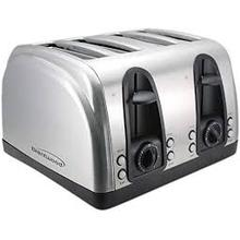 See Details - Brentwood TS-445S, Toaster, Extra Wide Slot, 4 slice, Stainless Steel