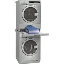 Electrolux washer and condensate dryer  WITH stack kit laundry table.