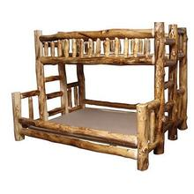 Twin XL / Queen Log Bunk Bed
