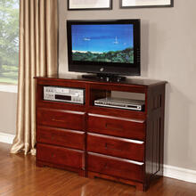 Merlot 6 Drawer Entertainment Dresser