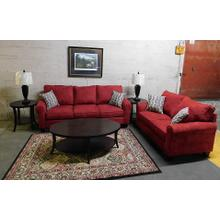 2600 Burgundy Sofa & Loveseat