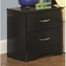 Jacob Collection Nightstand in Stipple Black Finish