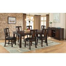 Tuscan Hills Regular Height 7 Pc Deep Brown Dinette Set by Vilo Home, Model VH1300