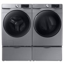 See Details - SAMSUNG 4.5 cu. ft. Front Load Washer with Steam & 7.5 cu. ft. Electric Dryer with Steam Sanitize- Open Box
