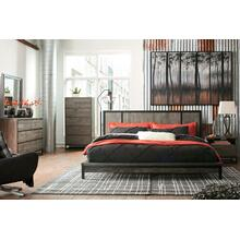 Cazentine - Queen Panel Platform bed, Dresser, Mirror, & 1 x Nightstand