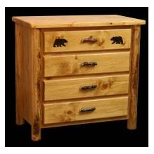 Ponderosa Pine 4 Drawer Chest