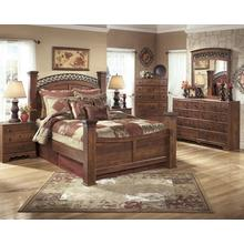 See Details - B258 Bedroom Set - Queen Bed, Nightstand, Chest of Drawers, Dresser and Mirror