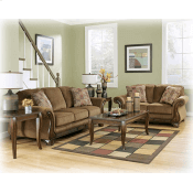 Wood Trim Sofa and Loveseat