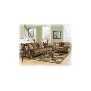 Wood Trim Sofa and Loveseat