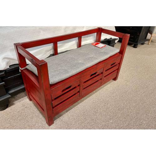 Cozy Casa - Distressed Storage Bench