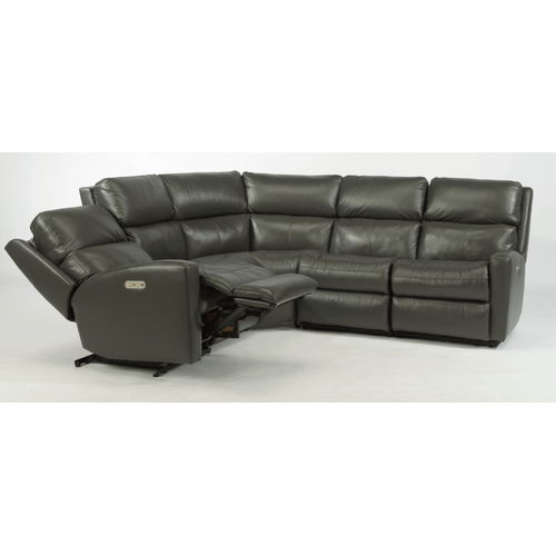 Flexsteel - Catalina Leather Reclining Sectional
