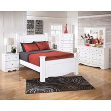 See Details - Weeki - Queen Poster Bed, Dresser, Mirror, & 1 x Nightstand