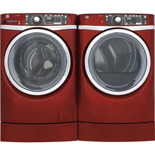 GE Front Load Laundry Package With Gas Dryer In Ruby Red