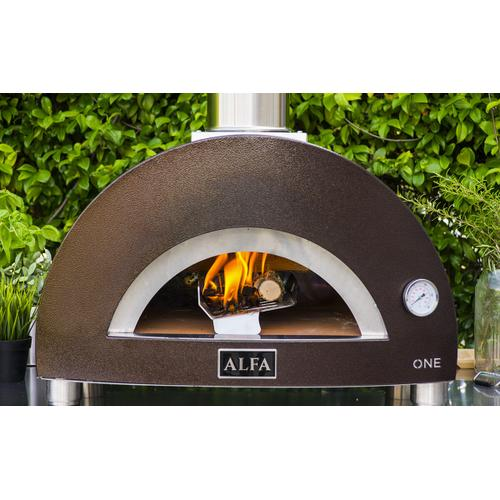 Alfa Ovens - ONE (Top Only), the smallest Wood/Charcoal oven in the category! The real Italian portable pizza oven. Compact and fast to use with the highest Italian professional quality.