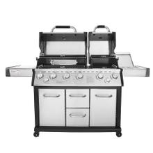 View Product - Royal Gourmet® MG6001-R 6-Burner Gas Grill, Side Burner, Infrared Burner, Stainless Steel