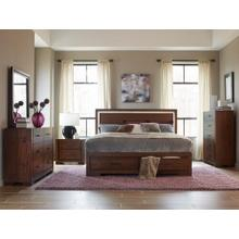 Ingrando Qn Bed, Dresser, Mirror and Nightstand